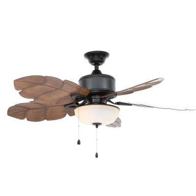 Wet Rated Outdoor Ceiling Fans With Light Regarding Most Recently Released Wet Rated – Ceiling Fans – Lighting – The Home Depot (View 13 of 15)