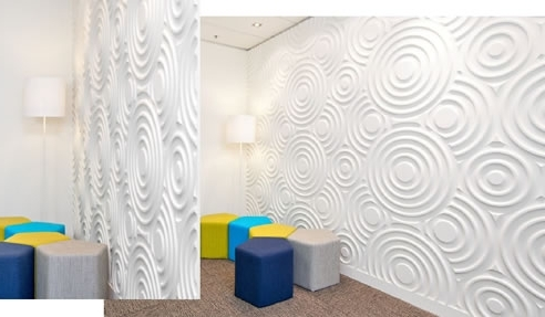 Wetherill Park 3D Wall Art Pertaining To Most Recently Released Large Circles Textured Wall Design, 3D Wall Panels Wetherill Park (View 5 of 15)