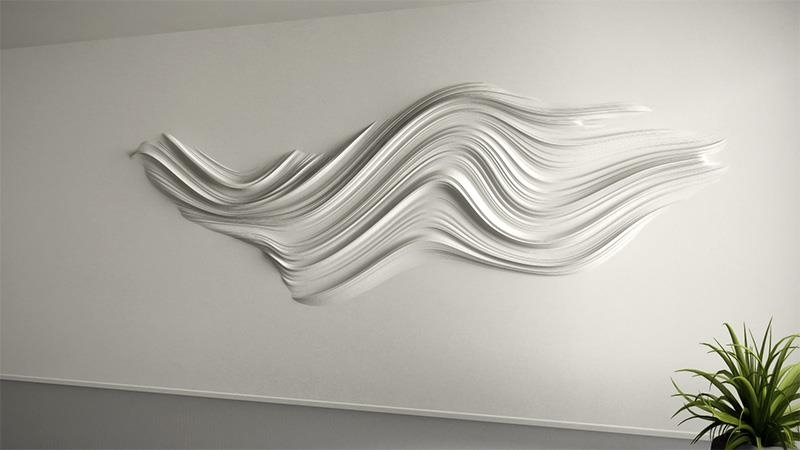 White 3D Wall Art Throughout Newest 3D Wall Art Decorative Panels Decor With Regard To 3D Wall Art (View 12 of 15)