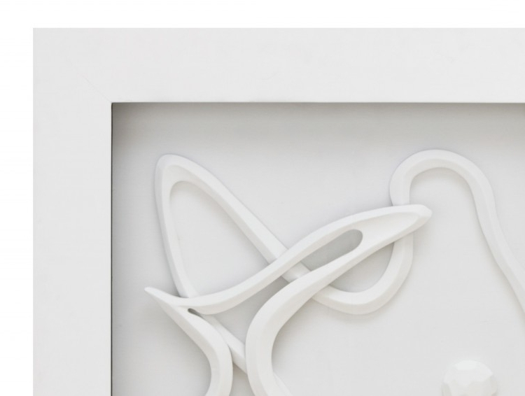 White Abstract 3D Wall Art, White Wall Art – Swinki Morskie With Current White 3D Wall Art (View 3 of 15)