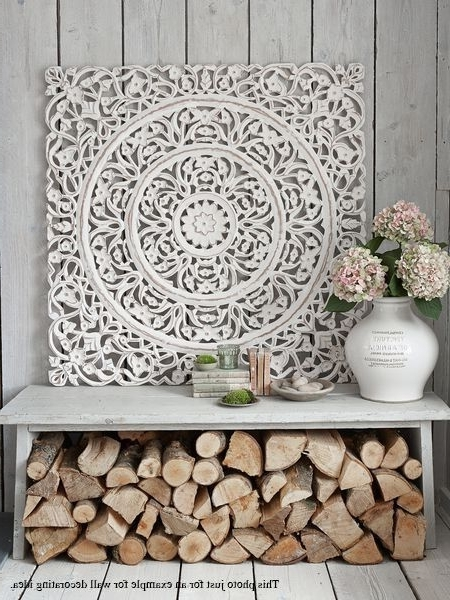 White Floral Wood Wall Art Panel (View 6 of 15)