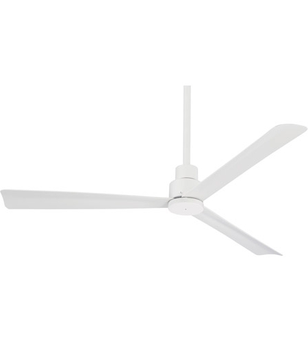 White Outdoor Ceiling Fans Intended For Most Recent Simple 52 Inch Flat White Outdoor Ceiling Fan (View 11 of 15)