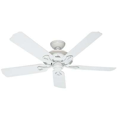 White – Outdoor – Ceiling Fans – Lighting – The Home Depot Pertaining To Newest White Outdoor Ceiling Fans (View 9 of 15)