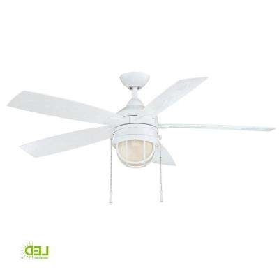 White – Outdoor – Ceiling Fans – Lighting – The Home Depot With Favorite White Outdoor Ceiling Fans With Lights (View 10 of 15)