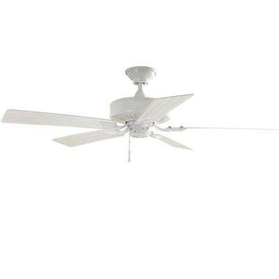 White – Outdoor – Ceiling Fans – Lighting – The Home Depot With Popular White Outdoor Ceiling Fans With Lights (View 11 of 15)