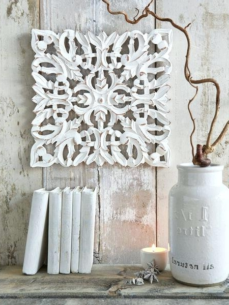 White Wood Wall Art Wood Medallion Wall Art Folks Like To Add Art To In Widely Used White Wooden Wall Art (View 7 of 15)