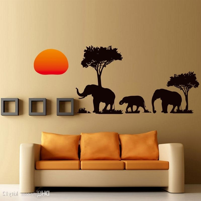 Wholesale Diy Home Decor Removable 3D The New African Elephant Wall With Current 3D Wall Art Wholesale (View 1 of 15)
