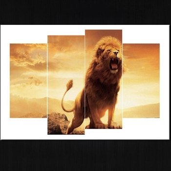Wholesale Group Multi Panel Printed Canvas Wall Art Prints Lion With Regard To Well Known Multi Panel Canvas Wall Art (View 14 of 15)