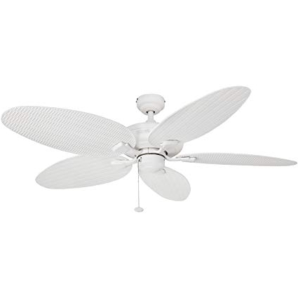 Wicker Outdoor Ceiling Fans Inside Most Recently Released Amazon: Honeywell Duvall 52 Inch Tropical Ceiling Fan, Five Wet (View 13 of 15)