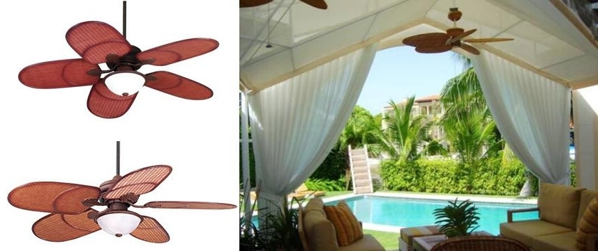 Wicker Outdoor Ceiling Fans With Lights For Fashionable Ceiling: Interesting Outdoor Ceiling Fan With Light And Remote (View 11 of 15)