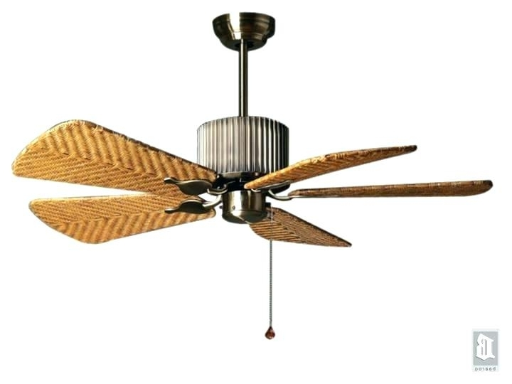 Wicker Outdoor Ceiling Fans With Lights Intended For Popular Rattan Ceiling Fans With Lights – Begonaparkgijon (View 12 of 15)