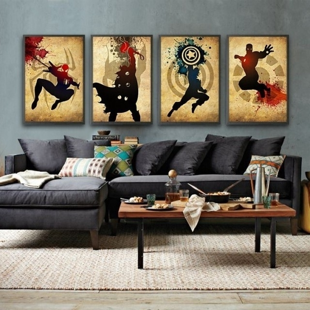 Widely Used 2016 Newest 4 Piece Wall Art Decor The Picture Modern Abstract Oil With 4 Piece Wall Art Sets (View 15 of 15)