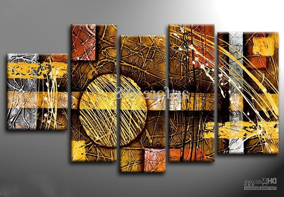 Widely Used 2018 Large Modern Abstract Wall Art For Sale Hand Painted Oil Regarding Modern Abstract Wall Art (View 15 of 15)