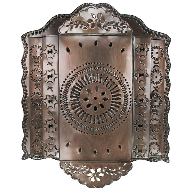 Widely Used 3 Tier Mexican Punched Tin Wall Sconce For Mexican Metal Wall Art (View 15 of 15)