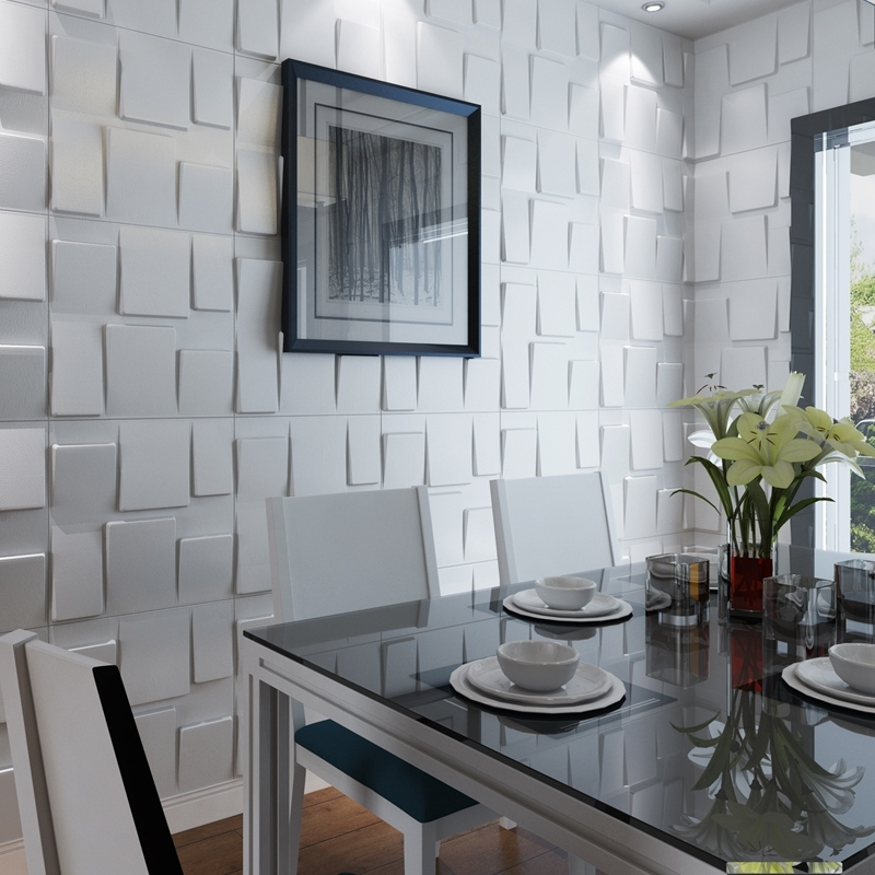 Widely Used 3D Plastic Wall Panels Pertaining To Architectural 3D Wall Panels Textured Art Design, 12 Tiles 32 Sf (View 15 of 15)