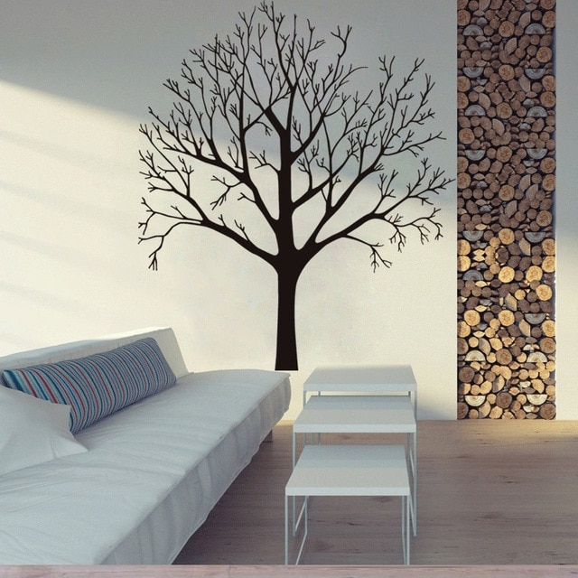 Widely Used 3D Tree Wall Art With Regard To Wall Stickers Tree Decal Home Decoration 3D Wallpaper Wall Art (View 14 of 15)