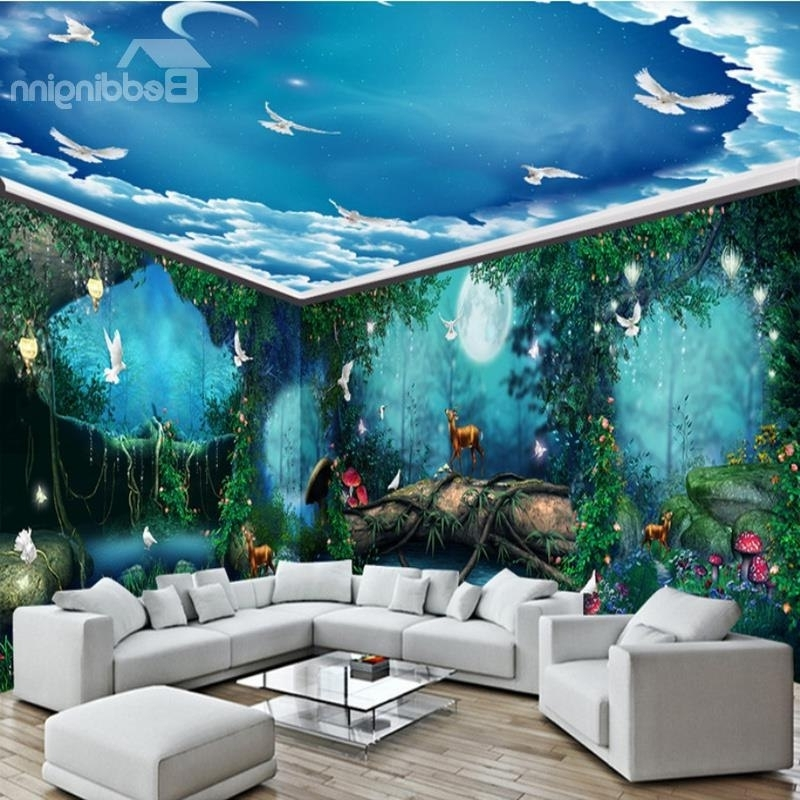 Widely Used 3D Wall Murals – Large Wall Murals Art & Wallpaper For Bedroom Pertaining To 3D Wall Art Wallpaper (View 11 of 15)