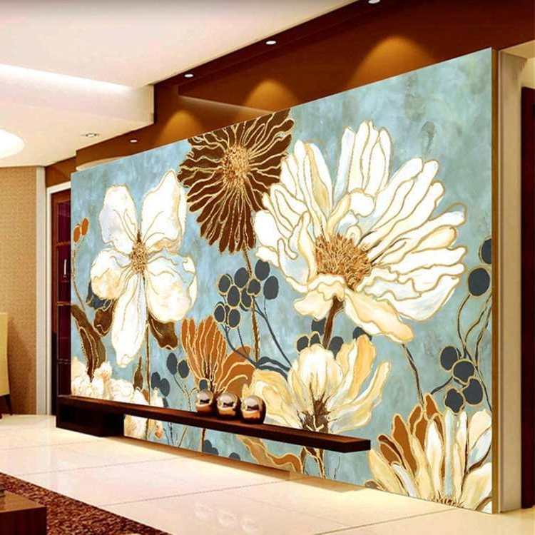 Widely Used 3D Wall Painting Beautiful Vintage 3D Wallpaper Painting Flowers Regarding Vintage 3D Wall Art (View 3 of 15)