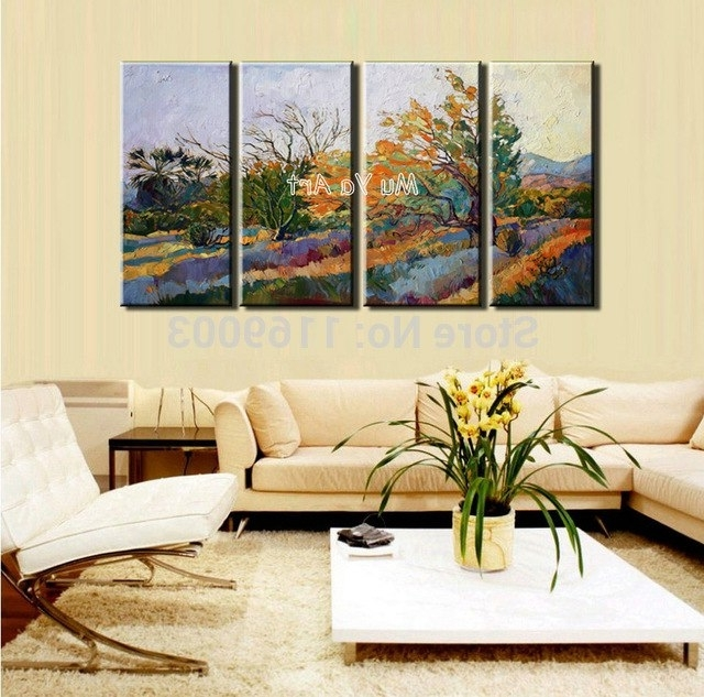 Widely used Abstract 4 Piece Canvas Wall Art Picture Modern Large Nature Scenery inside Abstract Nature Canvas Wall Art