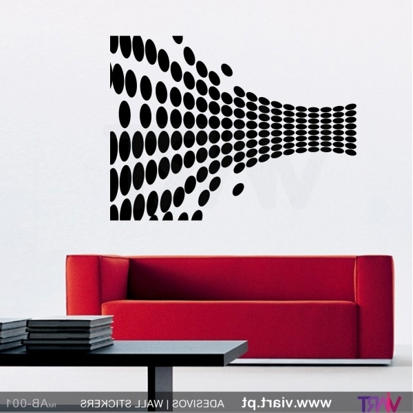 Widely Used Abstract Art Wall Decal Inside Abstract Optical Illusion! Wall Stickers – Wall Art – Viart (View 2 of 15)