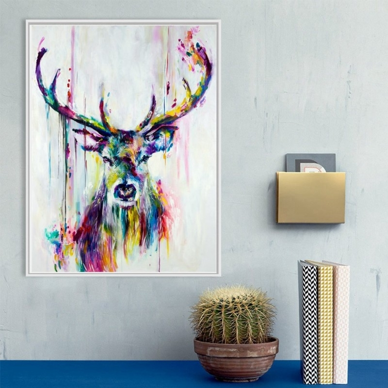 Widely Used Abstract Deer Wall Art Print Painting Decorative Pictures Home With Regard To Stag Wall Art (View 13 of 15)