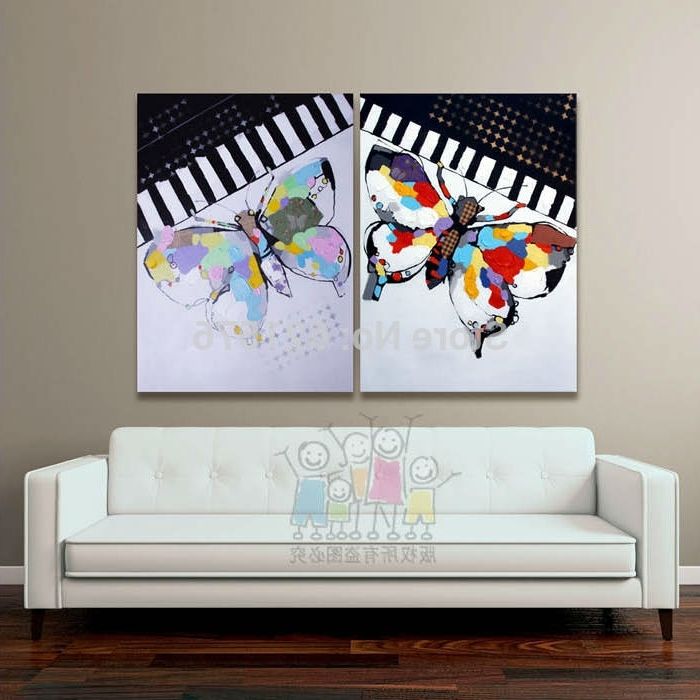 Widely Used Abstract Piano Wall Art Pertaining To Hand Painted Modern European Living Room Wall Art Picture Home Decor (View 14 of 15)