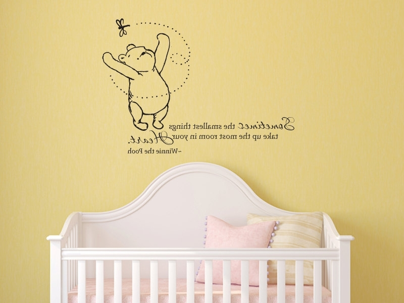 Widely Used Adorable Winnie The Pooh Wall Decals To Liven Up Your Baby's Room Within Winnie The Pooh Nursery Quotes Wall Art (View 12 of 15)