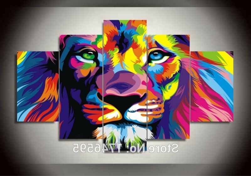 Widely Used Aliexpress : Buy Big Size Abstract Living Room Wall Decor Within Abstract Lion Wall Art (View 7 of 15)