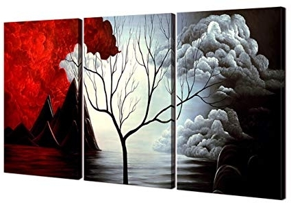 Widely Used Amazon: Home Art – Abstract Art Giclee Canvas Prints Modern Art Pertaining To Abstract Wall Art For Bathroom (View 13 of 15)