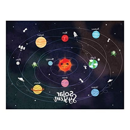 Widely Used Amazon: Solar System Poster Print, Space Wall Art, Outer Space For Solar System Wall Art (View 3 of 15)