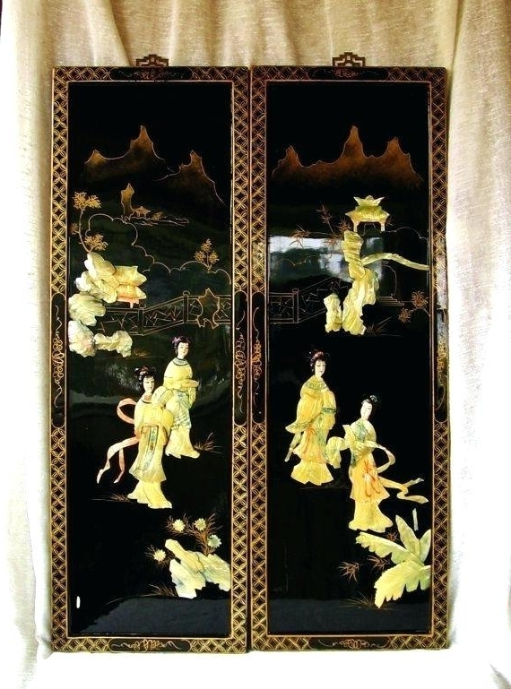 Widely Used Asian Wall Art Panels Inside Asian Wall Art Painting Canvas 5 Wooden Australia – Feelingradio (View 15 of 15)