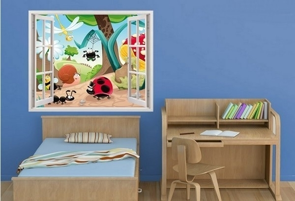 Widely Used Baby Nursery 3D Wall Art With Regard To 3D Insects Family Nursery Wall Sticker Decal (View 15 of 15)