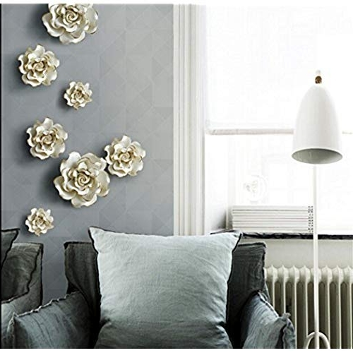 Widely Used Blossom White 3D Wall Art For 3D Wall Decor: Amazon (View 15 of 15)