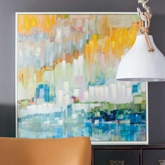 Widely Used Blue And Yellow Abstract Vertical Brushstrokes Artwork Regarding Yellow And Blue Wall Art (View 12 of 15)