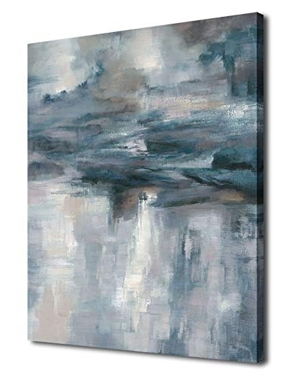 Widely Used Blue Canvas Abstract Wall Art With Amazon: Abstract Wall Art Canvas Painting Pictures Large Canvas (View 14 of 15)