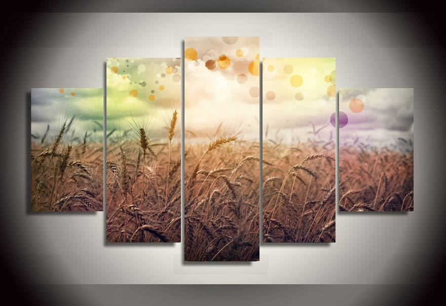 Widely Used Canvas Print Painting Rainbow Country Painting On Canvas For Living Regarding Country Canvas Wall Art (View 2 of 15)