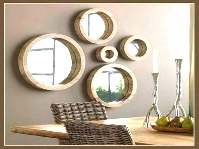 Widely Used Circle Mirror Decor Small Round Mirrors Wall Art Rattan Mirror Wall Intended For Mirror Circles Wall Art (View 12 of 15)
