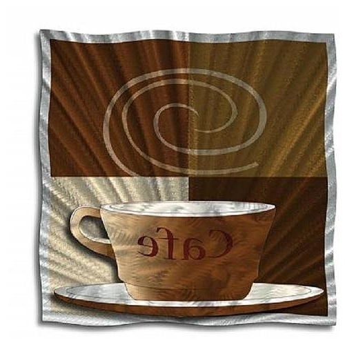 Widely Used Coffee Theme Metal Wall Art In Coffee Food Metal Wall Art, Modern Home Decor, Contemporary Wall (View 14 of 15)