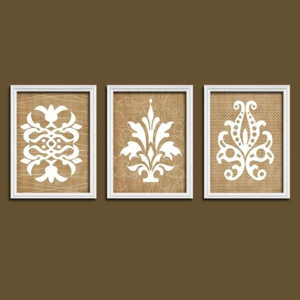 Widely Used Country Wall Decor Lovely Damask Art Canvas Or Prints French Unusual Regarding Country French Wall Art (View 15 of 15)