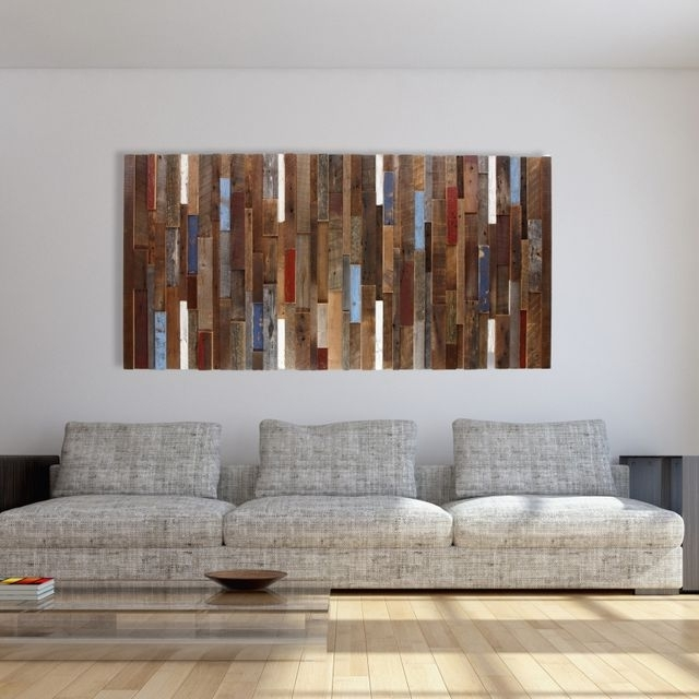 Widely Used Dark Wood Wall Art Inside Hand Made Wood Wall Art Made Of Old Reclaimed Barnwood, Different (View 14 of 15)