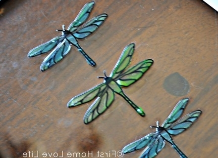 Widely Used Dragonfly Wall Art: 3D Wall Dragonflies In Silhouette For, Dragonfly With Regard To Dragonfly 3D Wall Art (View 15 of 15)