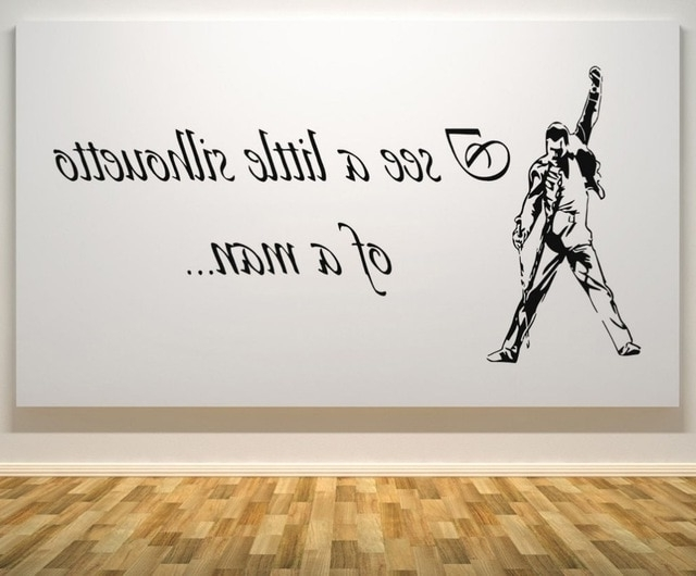 Widely Used Free Shipping Freddie Mercury Queen Bohemian Rhapsody Music Decal Inside Freddie Mercury Wall Art (View 11 of 15)