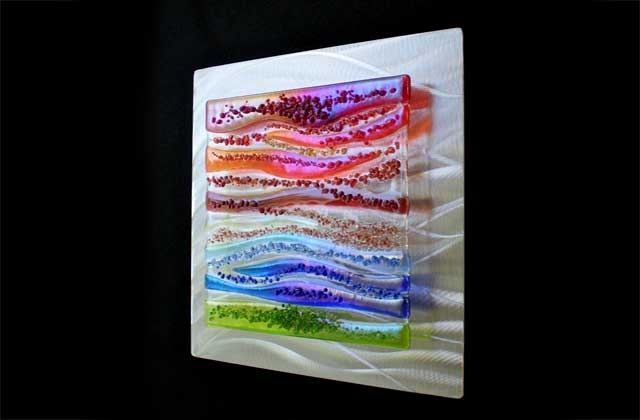 Widely Used Fused Glass Wall Art With Contemporary Glass Wall Art, Fused Glass & Metal Wall Art,kim (View 11 of 15)