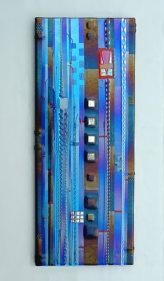 Widely Used Glass Wall Art Panels Inside Blue Sky Panel In Cobalt And Aquamark Ditzler (Art Glass Wall (View 15 of 15)