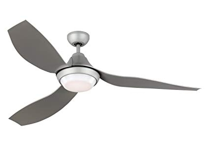 """Widely Used Grey Outdoor Ceiling Fans With Regard To Monte Carlo Avvo 3Avor56Gryd Grey 56"""" Indoor/outdoor, Energy (View 8 of 15)"""