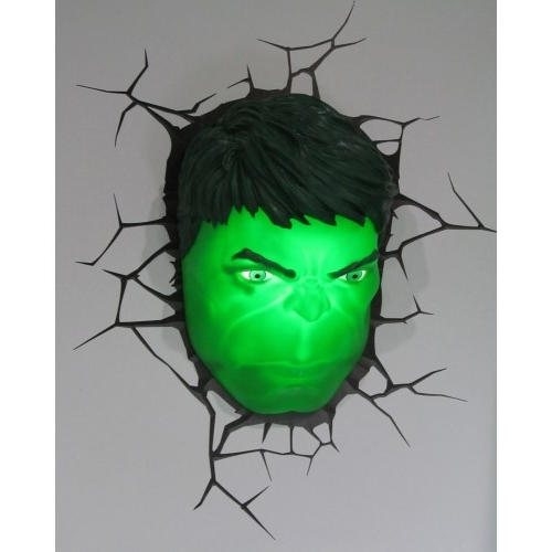 Widely Used Hulk Hand 3D Wall Art Inside The Avengers 3D Wall Art Nightlight Hulk Head Magnificent 3D Hand (View 9 of 15)