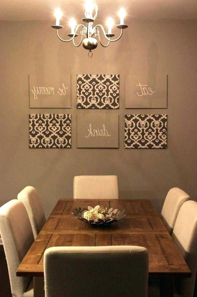 Widely Used Kitchen And Dining Wall Art For Dining Wall Decor Ideas The Treatment Of The Mirrors Is Especially (View 14 of 15)