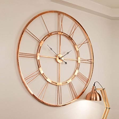 Widely Used Large Copper Wall Art With Regard To Inhouse 150 Cm Copper Color Handmade Extra Large Wall Clock (View 15 of 15)