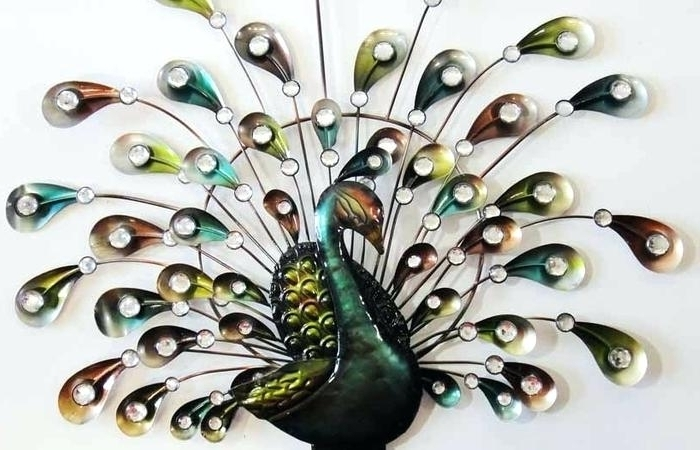 Widely Used Metal Peacock Wall Art With Peacock Wall Hanging Peacock Wall Decor Vintage Metal Awesome Metal (View 15 of 15)