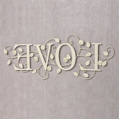 Widely Used Metal Word Wall Art With Blooms Of Love Metal Word Wall Art (View 2 of 15)